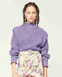 Fioletowy sweter Prune