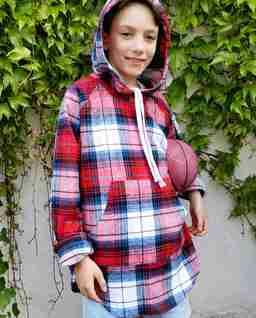 Czerwona bluza KIDS RESTART FLANNEL