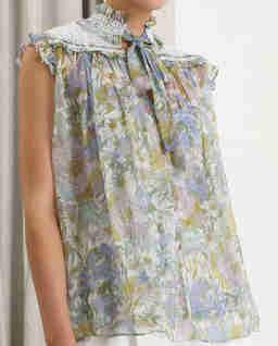 Jedwabna bluzka w kwiaty Super Eight
