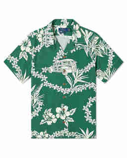 Koszula w hawajski wzór Custom Fit