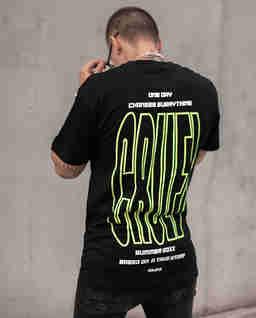 Czarny t-shirt CRUEL