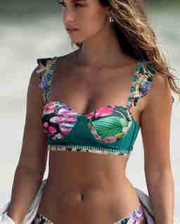 Top od bikini w kwiaty
