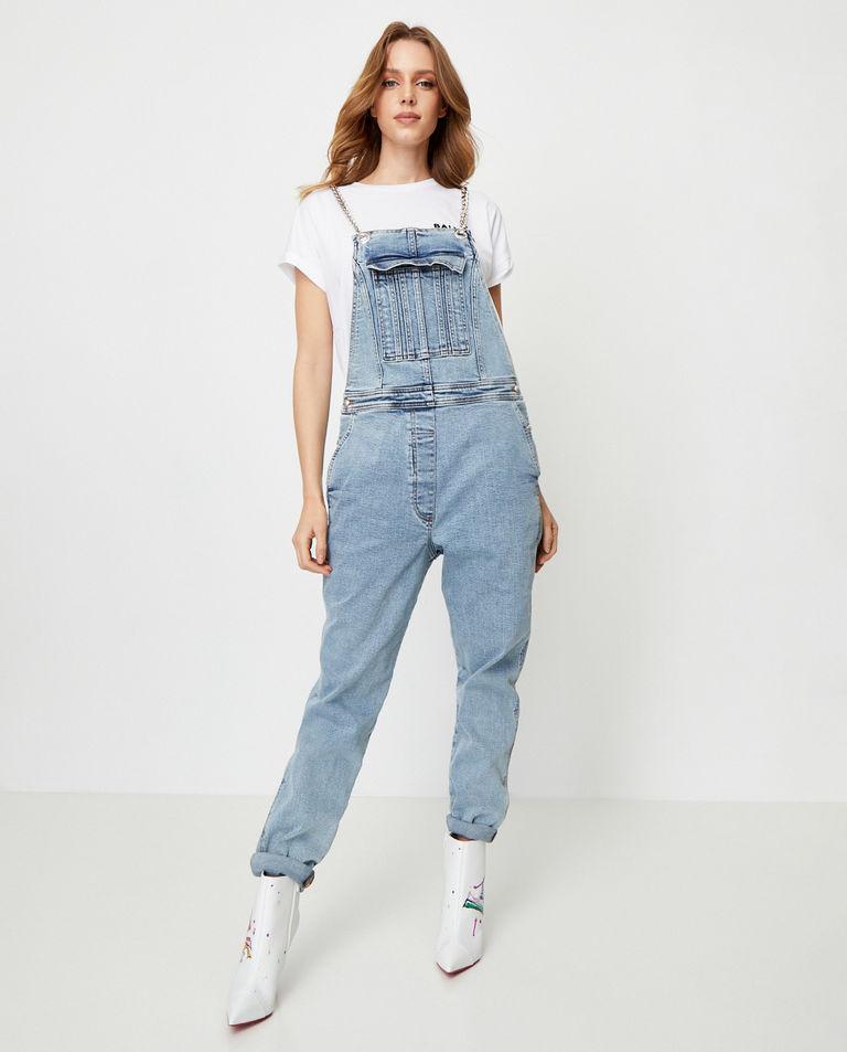 Jeansowe ogrodniczki Balmain
