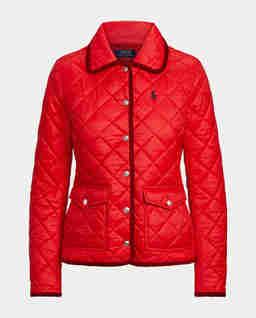Czerwona kurtka z logo