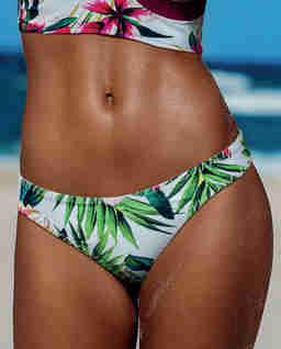 Dół od bikini w tropikalny wzór