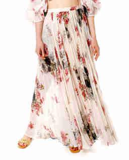 Plisowana spódnica z jedwabiu Jasmine