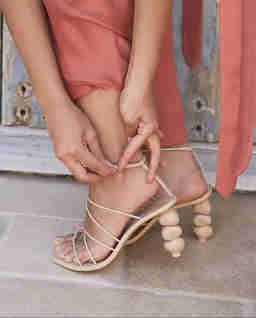 Beżowe sandały Pietra