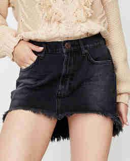 Czarna jeansowa spódnica Junkyard