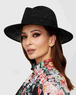 Czarny kapelusz Virginie