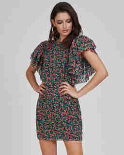 Sukienka mini z falbanami Poppy
