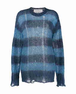 Sweter w paski z moheru