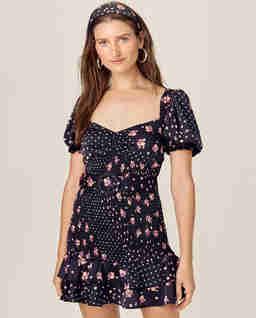 Czarna sukienka Camellia