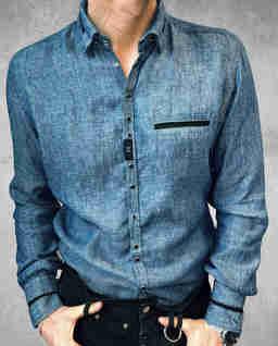 Niebieska koszula jeansowa Barfly