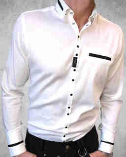 Biała koszula z logo Barfly3