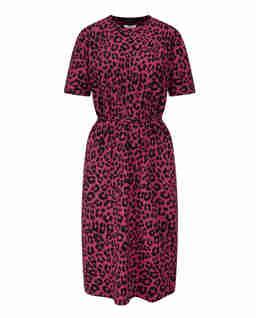 Różowa sukienka w cętki