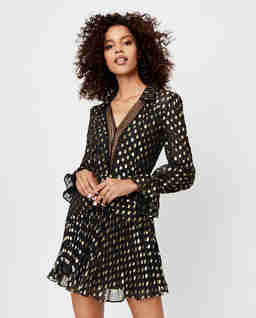 Sukienka mini w kropki