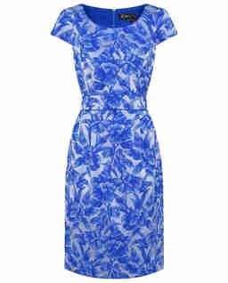 Sukienka midi w niebieskie kwiaty
