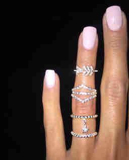 Zestaw srebrnych pierścionków