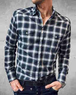 Zielona koszula w kratę Cowboy