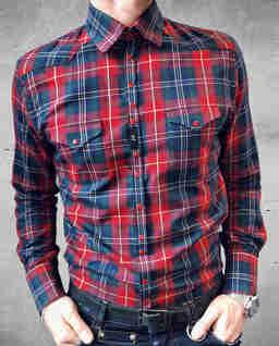 Czerwona koszula z haftem Cowboy