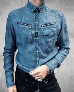 Jeansowa koszula z kieszeniami Jungle Drop1