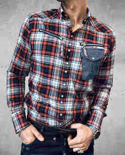 Koszula w kratę z zamkami Jungle Drop3