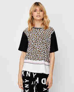 T-shirt piżamowy z motywem zwierzęcym