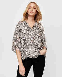 Košile s levhartím vzorem