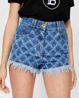 Jeansowe szorty z logo