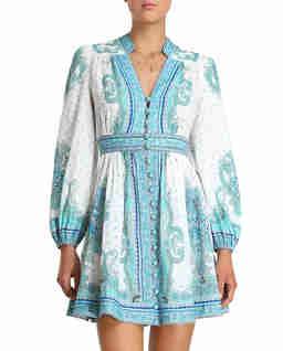 Lniana sukienka mini