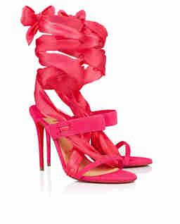 Różowe sandały Foulard Cheville
