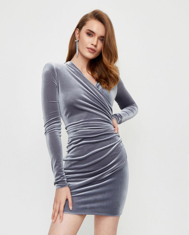 Aksamitna sukienka mini Alexandre Vauthier