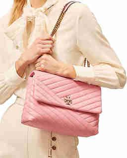 Różowa torebka Kira Chevron