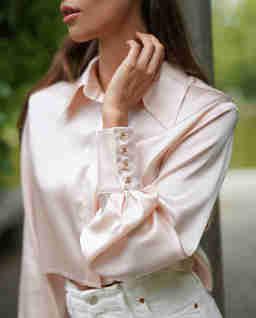 Krótka różowa koszula