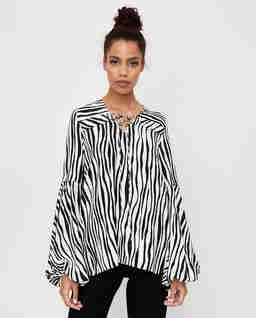 Koszula ze wzorem zebry Safi