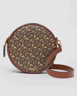 Okrągła torebka z monogramem Louise