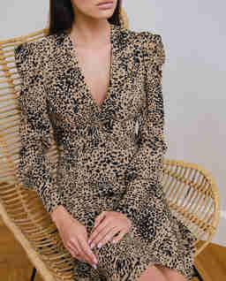 Sukienka  w panterkę Corrida