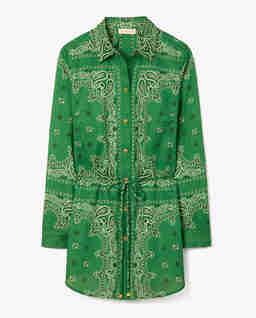 Zielona tunika ze wzorem paisley