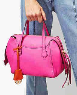 Różowa torebka Perry Small Satchel