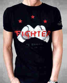 Czarny t-shirt Fighter