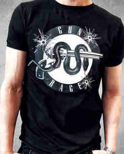 Czarny t-shirt Gun Range