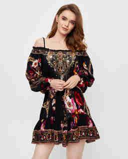 Sukienka mini na ramiączkach Mirror