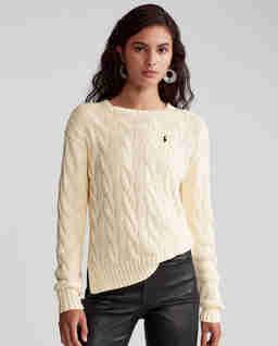 Beżowy sweter z bawełny