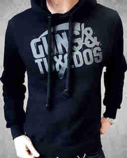 Czarna bluza z kapturem Black Drop