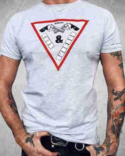 T-shirt z nadrukami Triangle Grey
