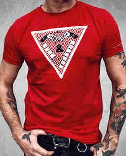 T-shirt z nadrukami Triangle Red