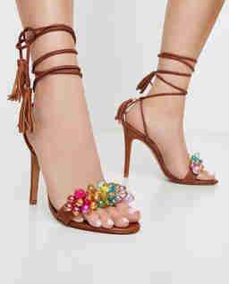 Sandały na szpilce Bubblicious