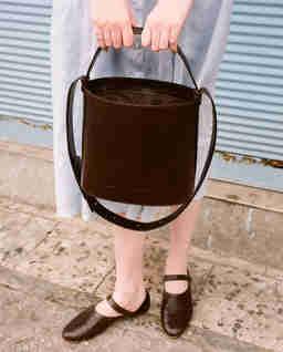 Brązowa torebka kubełek CHAMPAGNE