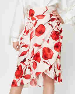Spódnica z motywem kwiatowym Florence