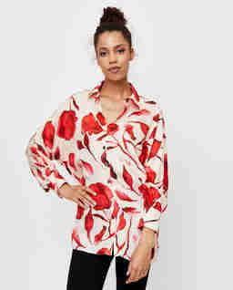 Koszula z motywem kwiatowym Florence